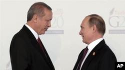 رجب طیب اردوغان و ولادیمیر پوتین، روسای جمهور ترکیه و روسیه