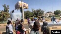 Une manifestation anti-gouvernementale à Omdurman, au Soudan, le 9 janvier 2018