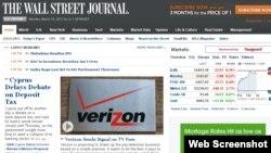 华尔街日报网站截屏