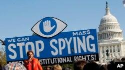10月26日在國會前舉行的反美國國安局監控項目的示威