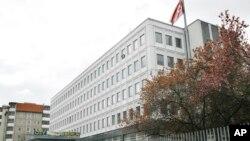 北韓驻德国大使馆大院内的柏林城市旅馆。(2008年4月3日)