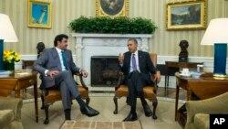 Тамим бин Хамад Аль Тани и Барак Обама
