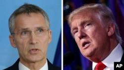 Генеральний секретар НАТО Єнс Столтенберґ і президент США Дональд Трамп домовилися про зустріч у травні в Брюсселі.