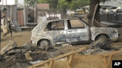 Pasar di kota Potiskum di Nigeria timur laut menjadi sasaran serangan bom bunuh diri bulan lalu (12/1). Serangan kembali terjadi hari Minggu (22/2).