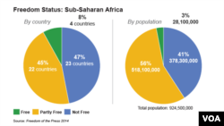 Media Freedom in Sub-Saharan Africa