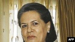 Bà Gandhi đã giữ chức Chủ tịch đảng Quốc Ðại từ năm 1998