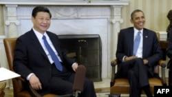 Tổng thống Hoa Kỳ Barack Obama gặp phó Chủ tịch Trung Quốc Tập Cận Bình tại Phòng Bầu dục của Tòa Bạch Ốc tại Washington, ngày 14/2/2012