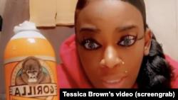 Tessica Brown, mulher que colou o cabelo com super cola Gorilla Glue