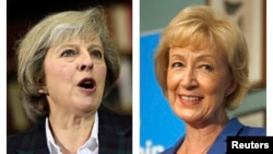 The two remaining candidates in the Conservative party leadership contest, Theresa May (L) and Andrea Leadsom, are seen in this combination of two photographs, released in London, Britain July 7, 2016.