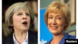 Menteri Dalam Negeri Inggris Theresa May (kiri) dan Menteri Energi Andrea Leadsom bersaing untuk menjadi PM menggantikan David Cameron (foto: dok).