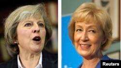 英國內政大臣特麗莎梅(左)和能源與氣候變化大臣安德里亞利德索姆獲推舉參加首相職務的競爭。
