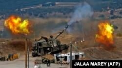 اسرائیل کا توپ خانہ حزب اللہ کے راکٹ حملوں کا جواب دے رہا ہے۔6 اگست 2021