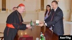 """Prezident İlham Əliyevin Vatikanın """"Medalla Sede Vacante"""" medalına layiq görülüb"""