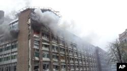 挪威政府大楼爆炸现场
