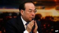 2017年3月6日,中共重庆市委书记孙政才在北京开会。美联社当时说,孙政才是争取在中共十九大成为政治局常委的竞争者之一。