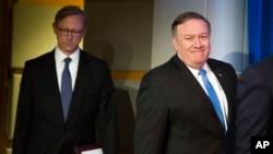آقای پمپئو اعلام کرد «برایان هوک» رئیس «گروه اقدام ایران» خواهد بود.