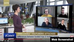 外國自媒體博主接受CGTN電視採訪(資料照片)
