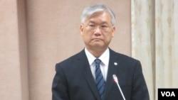 台湾新任陆委会主委夏立言(美国之音张永泰拍摄)
