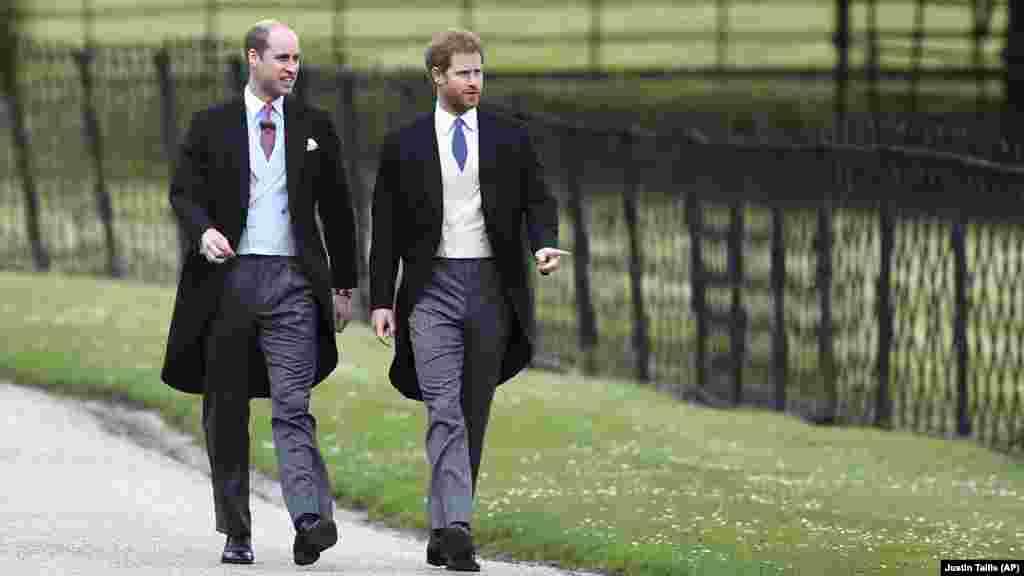 Британський принц Вільям (зліва) і принц Гаррі (справа)