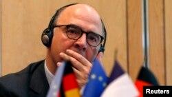 19일 프랑스 파리에서 유로존 재무장관회의가 열린 가운데, 피에르 모스코비치 프랑스 재무장관도 참석했다.