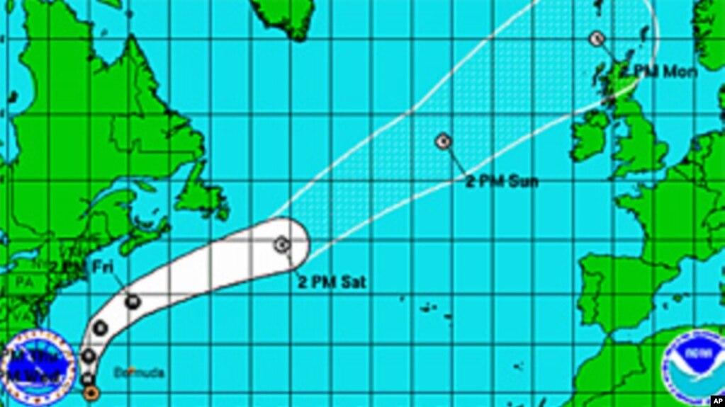 Predicted Track Of Hurricane Katia Sep 7 2011