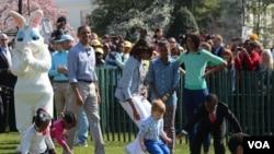 Tradicional carrera de huevos en la Casa Blanca
