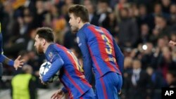 Lionel Messi iyo Pique
