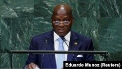 Presidente da Guiné-Bissau, José Mário Vaz, na Assembleia Geral das Nações Unidas, em Nova Iorque. 7 de Setembro 2018