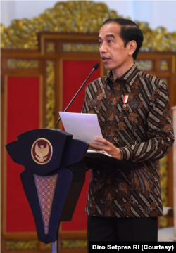 Presiden Joko Widodo dalam acara Pembukaan Rapat Kerja Nasional Kemendag di Istana Negara, Kamis (4/3), menduga adanya pratik perdagangan digital yang mematikan UMKM RI. Foto: Courtesy/Biro Setpres)