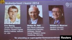 Nobel Kimya Ödülünü alan Eric Betzig, William Mörner ve Stefan Hell