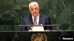 FILE - Palestinian President Mahmoud Abbas addresses the 69th United Nations General Assembly at the U.N. Headquarters in New York September 26, 2014.