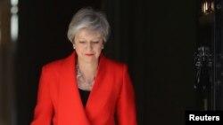 테레사 메이 영국 총리가 24일 성명을 통해 다음달 7일 당 대표를 사퇴하겠다고 밝혔다.