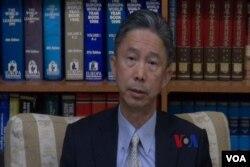 台灣外交部國際組織司司長周台竹接受美國之音訪問。(視頻截圖)