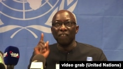 FILE - Adama Dieng, special adviser to the U.N. secretary-general for the prevention of genocide, is pictured in Juba, South Sudan, April 30, 2014.
