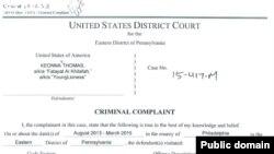 En la imagen, la acusación del Departamento de Justicia contra Keonna Thomas, de Filadelfia.
