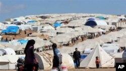 Kamp para pengungsi Suriah di Atmeh, provinsi Idlib, Suriah utara (foto: dok).