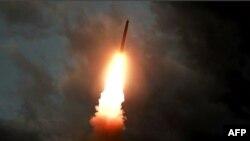 Một vụ bắn thử tên lửa của Triều Tiên.