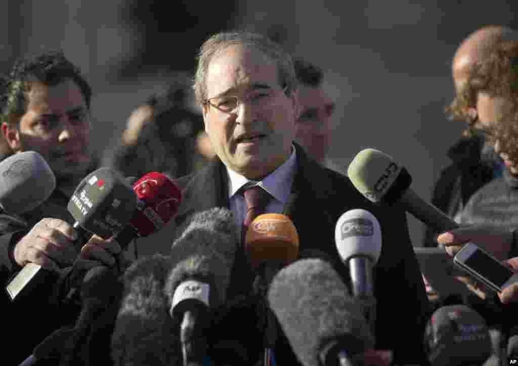 پرسش و پاسخ فیصل مقداد، معاون وزیر خارجه سوریه بعد از لغو نشست روز سه شنبه میان نمایندگان دولت و مخالفان - ژنو، ۲۸ ژانویه ۲۰۱۴