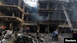 Mesto napada u četvrti Karada u Bagdadu