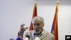 Tužilac za ratne zločine Vladimir Vukčević na konferenciji za novinare u Beogradu