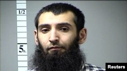 FILE - Sayfullo Saipov, the suspect in the New York City truck attack, is seen in this handout photo released Nov. 1, 2017, by the St. Charles County (Mo.) Department of Corrections.