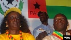 Guiné-Bissau, candidato José Mário Vaz e esposa, Eleições Gerais de 13 de Abril de 2014