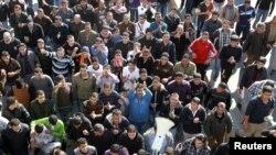 اردن میں ایندھن کی قیمتوں میں اضافے کے اعلان کے بعد حکومت مخالف مظاہرے کا ایک منظر
