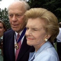 Former U.S. President Gerald Ford and his wife, Betty. Mr. Ford lived to 93, older than any other president.