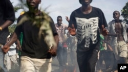 Manifestations à Bujumbura, 5 avril 2015.