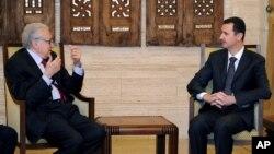 Лахдар Брахими и Башар Асад