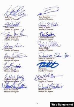 美国26议员致函习近平信件第三页