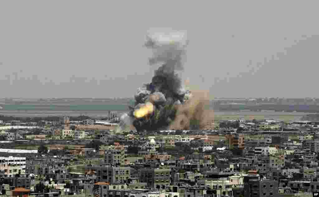 İsrail hərbi hava qüvvələri Rəfahi bombalayıb - 8 iyul, 2014