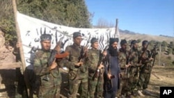Foto yang dirilis oleh militan Taliban Pakistan ini, memperlihatkan para militan pelaku penembakan di sekolah di Peshawar yang menewaskan 149 orang (16/12/2014).
