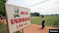 Việt Nam nói hơn 83% diện tích ở Quảng Trị hiện vẫn còn ô nhiễm bởi các chất nổ còn sót lại, với 391.500 ha đất bị ảnh hưởng